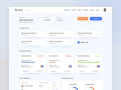 Dashboard - Project Management UI Kit template app color minimal ux management project kit ui dashboard design web