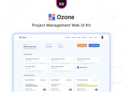 Ozone - Project Management Web UI Kit new trend design website template ozone xd adobe web management project kit ui