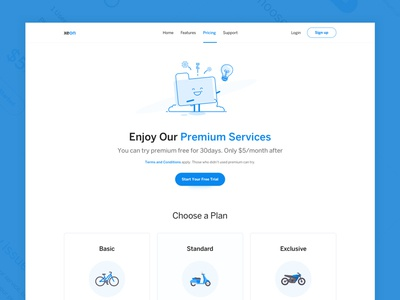 Exploration - Pricing Page