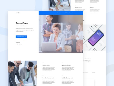 Team Oreo - Agency Website Homepage