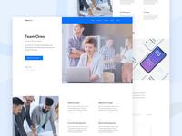 Team Oreo - Agency Website Homepage