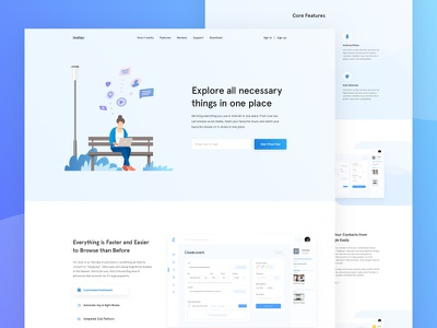 Invitex - Homepage Concept app ios android popular trending dashboard new ui trend landing page template clean typography minimal homepage concept user experience ux user interface ui saas product event website vector illustration web design