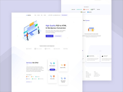 Convetros - Design Agency Homepage android user experience corporate service contact cryptocurrency blokchain dashboard saas b2b google analytics statistics illustration agency website ios app user interface landing page template minimal clean new trend popular trending typography ui ux kit pricing web design homepage