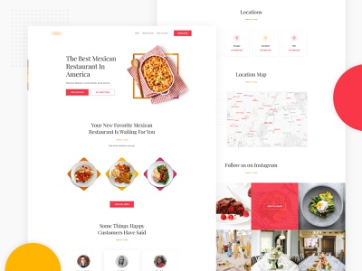 Homepage : Restaurant Website illustration flat 2d 3d real estate popular graphic new trend trending google typography minimal landing page cryptocurrency finance corporate agency product b2b ios android windows restaurant food app website homepage layout web design template user experience ux user interface ui