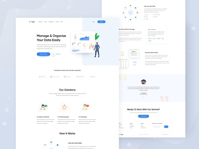Homepage - Taggr Website website homepage kit sketch xd figma template web design service crypto blockchain new trend trending agency branding typography app landing page graphic vector icon big data illustration analytics statistics dashboard experience ux user interface ui b2b saas sass b2c
