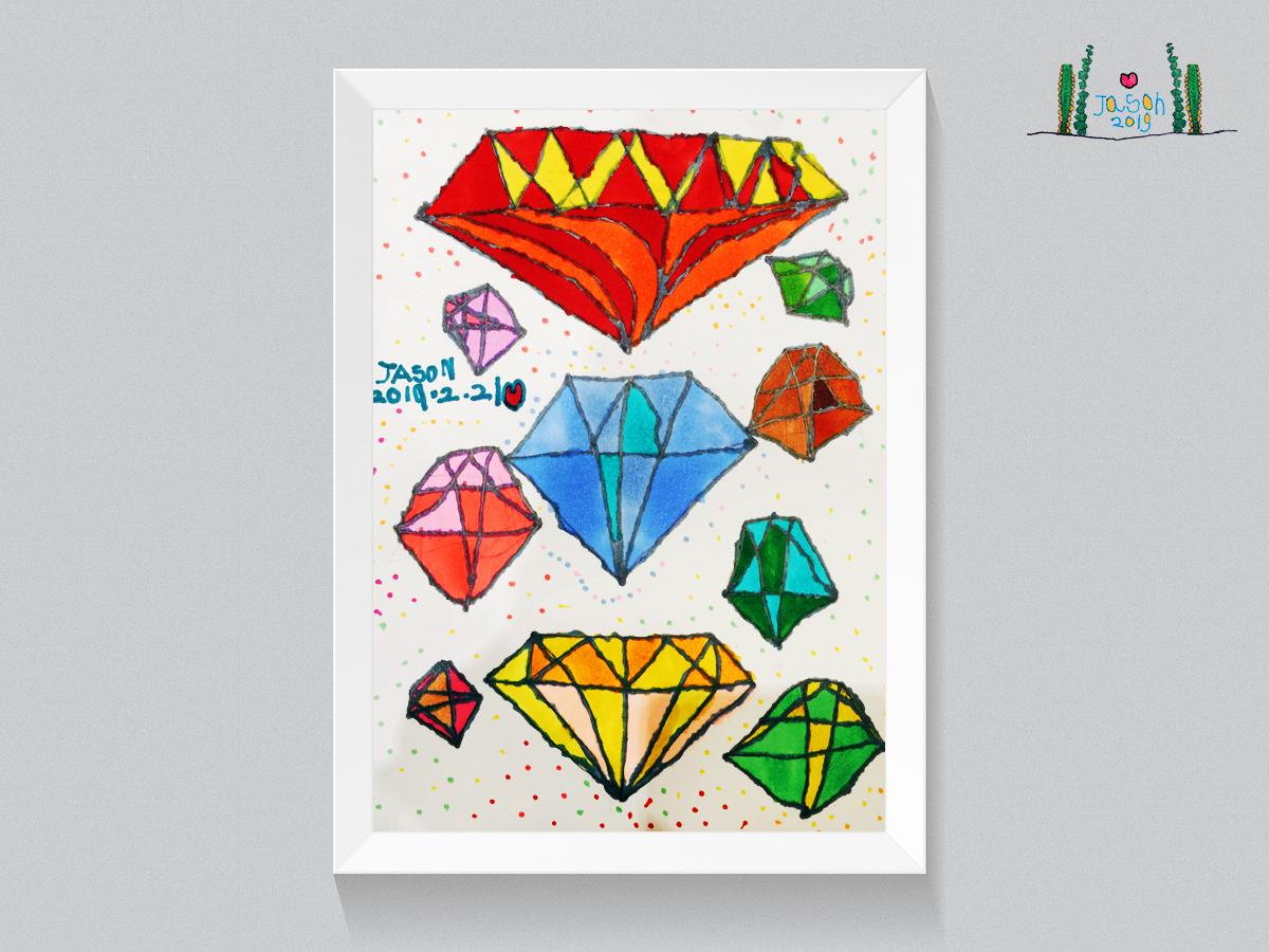 Diamond diamond illustration funny fashion illustration design cute color childrens illustration art