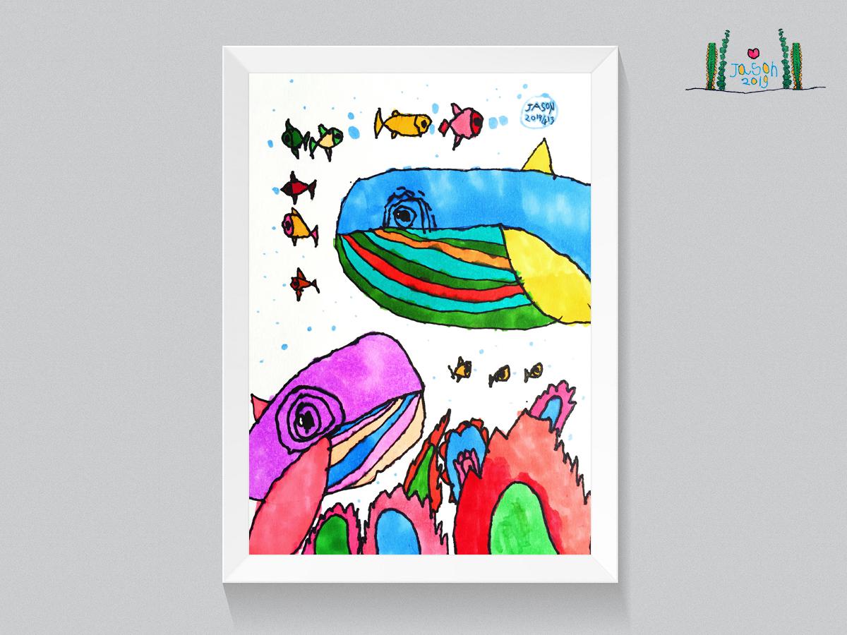 Ocean World art ocean fish ocean world illustration funny fashion illustration cute color childrens illustration animals