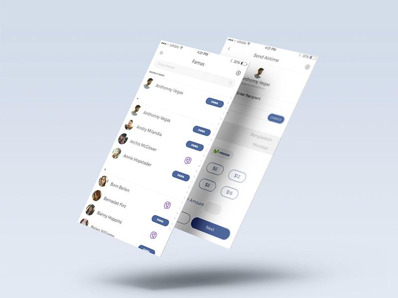 Famas APP iOS designer ux ui project creative design app