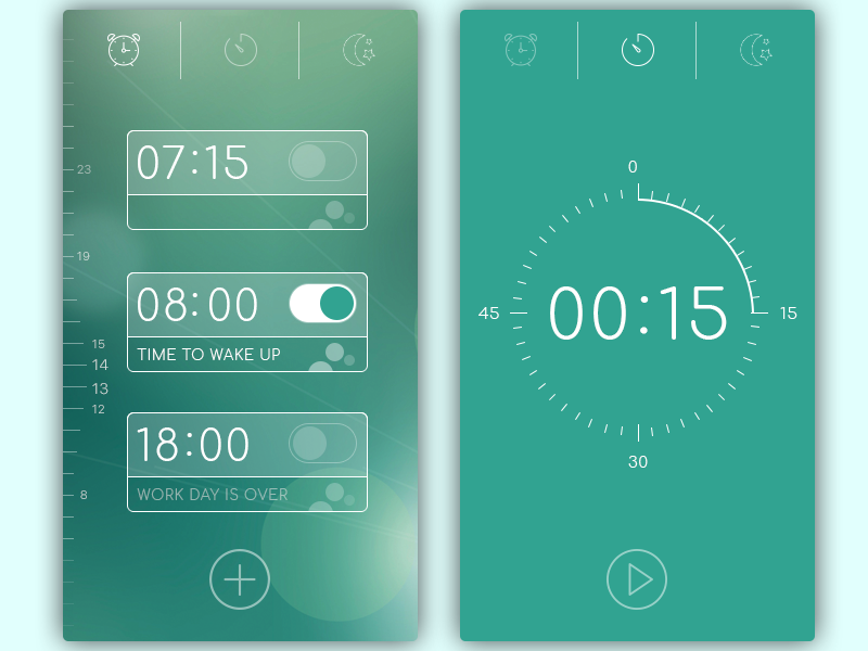 Alarm List and Timer by Sveta Didora
