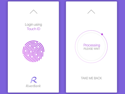 Daily UI, Week Twelve, Day 4 - Touch ID by Sveta Didora - Dribbble