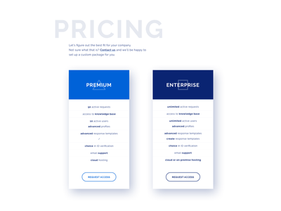 Pricing Section ui design web design pricing
