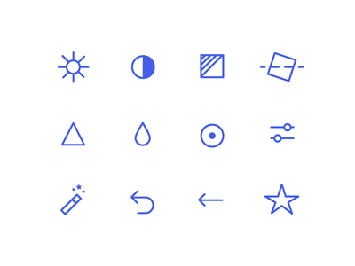 Photo Edit Icons mono ui design web icons
