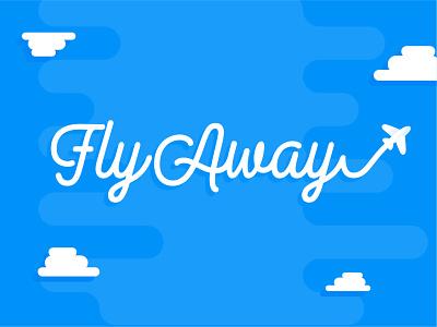 WIP - Children's Ministry Graphics: FlyAway design flat clouds sky airplane children kids ministry church typography vector illustration logo branding