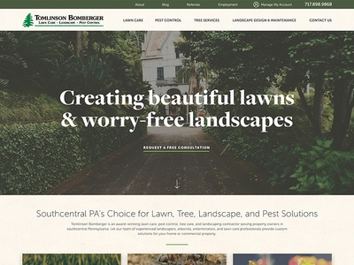 WIP: Landscaping & Lawn Care Homepage
