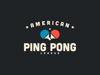 American Ping Pong League sports league cotton bureau flat logo table tennis ping pong for sale tshirt design tshirt apperal