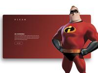 Disney Pixar Character Listing Concept
