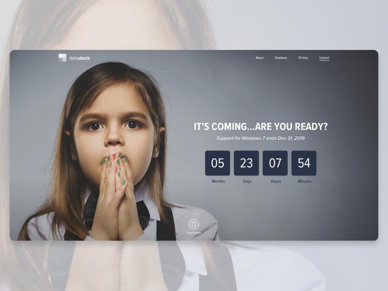 Software Landing Page Concept microsoft homepage design landing page hero ux ui web design