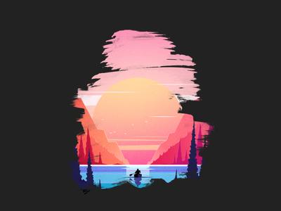 Alone at the Lake t-shirt design