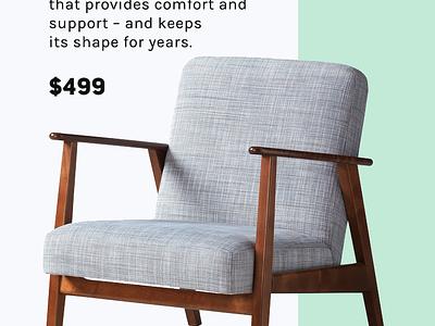 eCommerce UI for furniture store white ecommerce simple ikea minimal clean design ukraine app iphone mobile ios