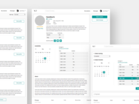 Fitness wireframes