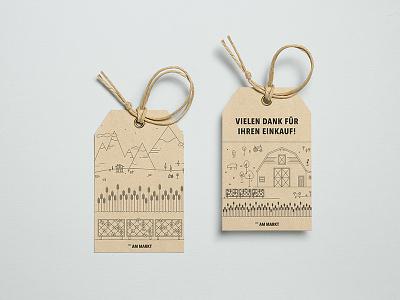 _AM MARKT tags branding farmers market farm illustration