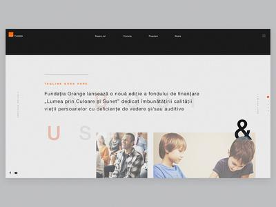 Orange Foundation Page Proposal