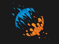 Cyan and Orange