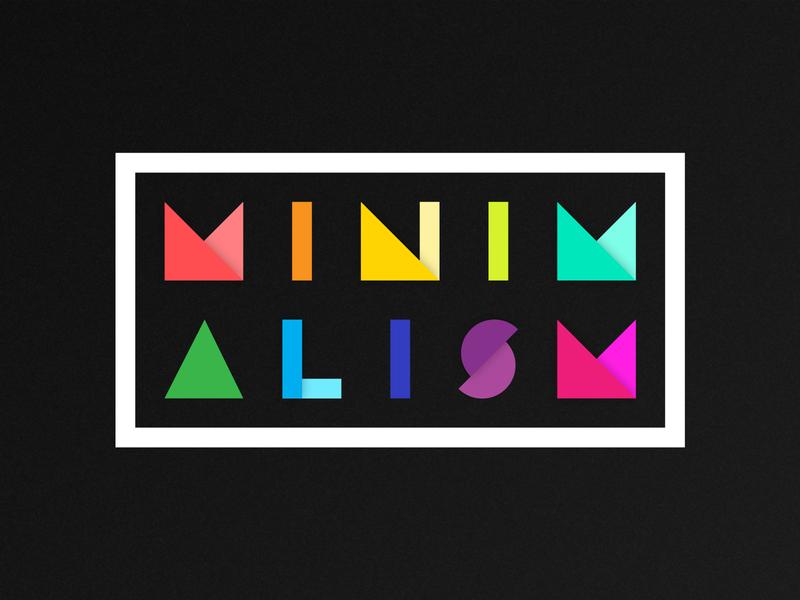 Minimalism typography vector