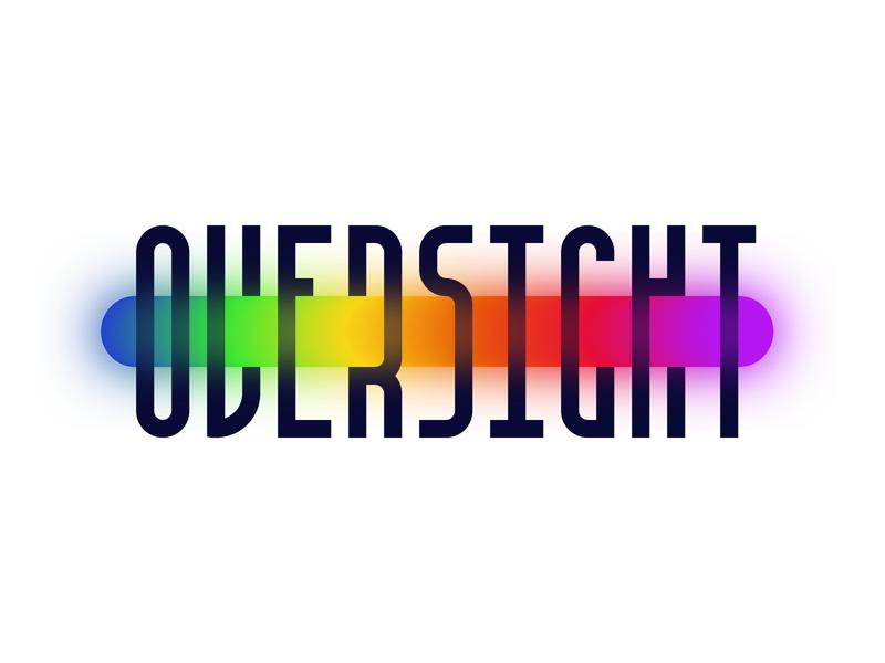 Oversight  Brand Exploration type typography design logo branding vector