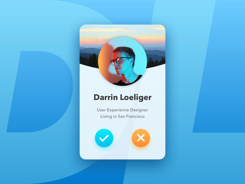 Profile Card design branding typography ux ui