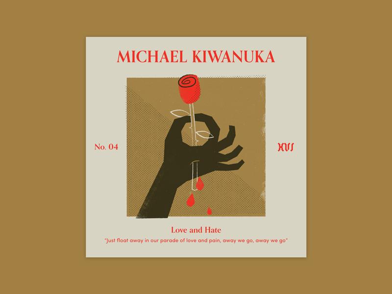 "Five Sixteen — Michael Kiwanuka ""Love and Hate"" album art print offset texture typography series music logo illustration art album"