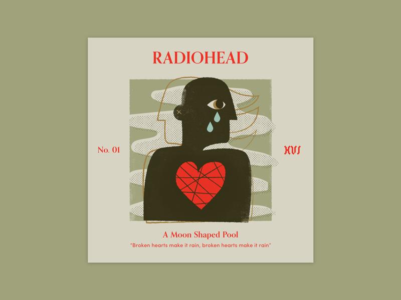 "Five Sixteen — Radiohead ""A Moon Shaped Pool"" album art print offset texture typography series music logo illustration art album"