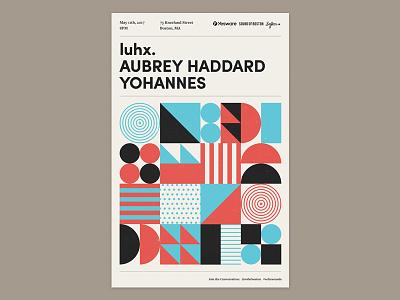 Sofar Poster show poster sofar sounds boston typography bands patterns shapes geometric simple poster gig sofar