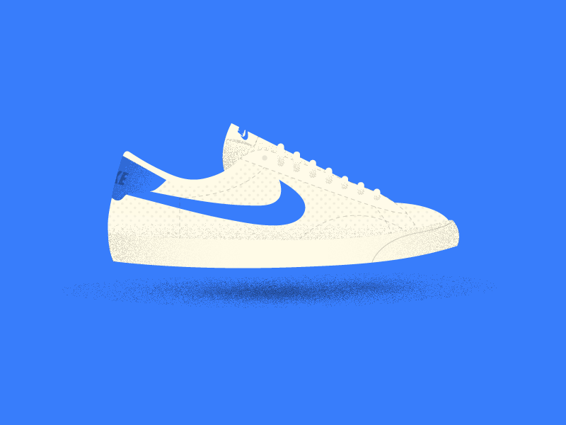 Nike Tennis Classic texture shadow illustration shoes shoe sneakers sneaker classic nike tennis nike
