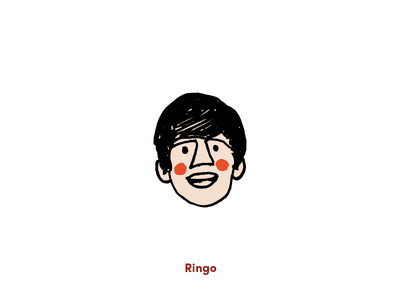 Fab Four - Ringo vector grit hand-drawn texture beatles doodle illustration fun art