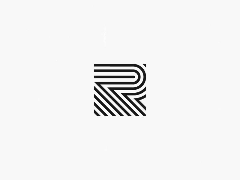 R t shirt brand r lettering logo illustration letter