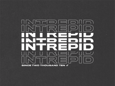 Intrepid Hoodie Concept texture type swag intrepid tshirt typography