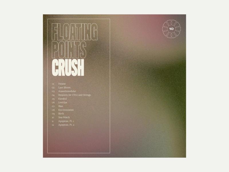 10. Floating Points - Crush grit series album art album music typography art texture