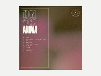 8. Thom Yorke - Anima series grit album art album music typography art texture