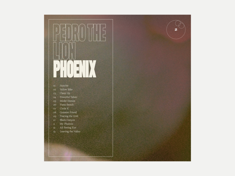 2. Pedro the Lion - Phoenix series grit album art album music typography art texture