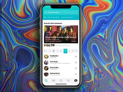 Bandsintown iOS App ios event music eventapp musicapp iosapp app