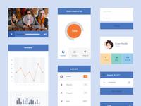 Freebie PSD: Flat UI Kit clean ui blue flat interface simple minimalist widget grey free psd freebie