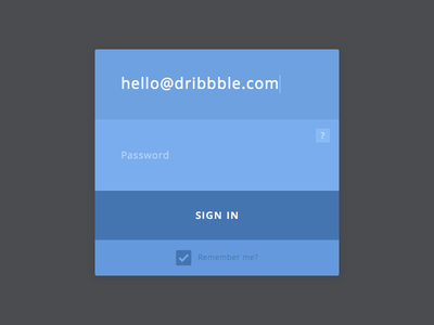 Sign In Component clean minimalist flat design ui sign in