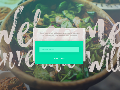 Sign Up Experiment art typography green form fancy dailyui signup login