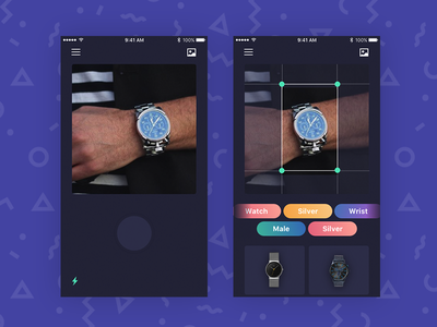Social Store - Visual Search ui store shop mobile ios gradients ecommerce card block app