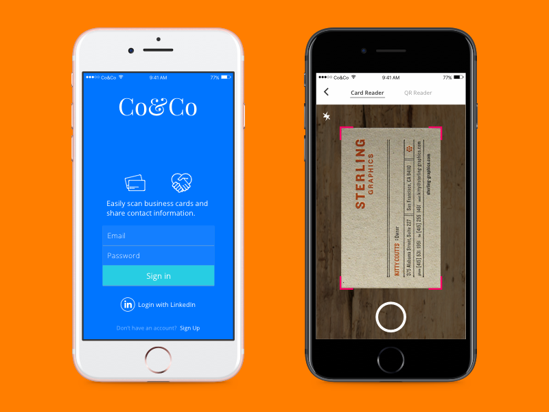 Coco business card reader app by gercek armagan dribbble coco dribbble 1 01 reheart