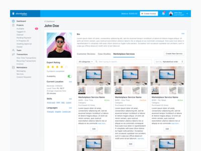 Expert Profile - Marketplace Services