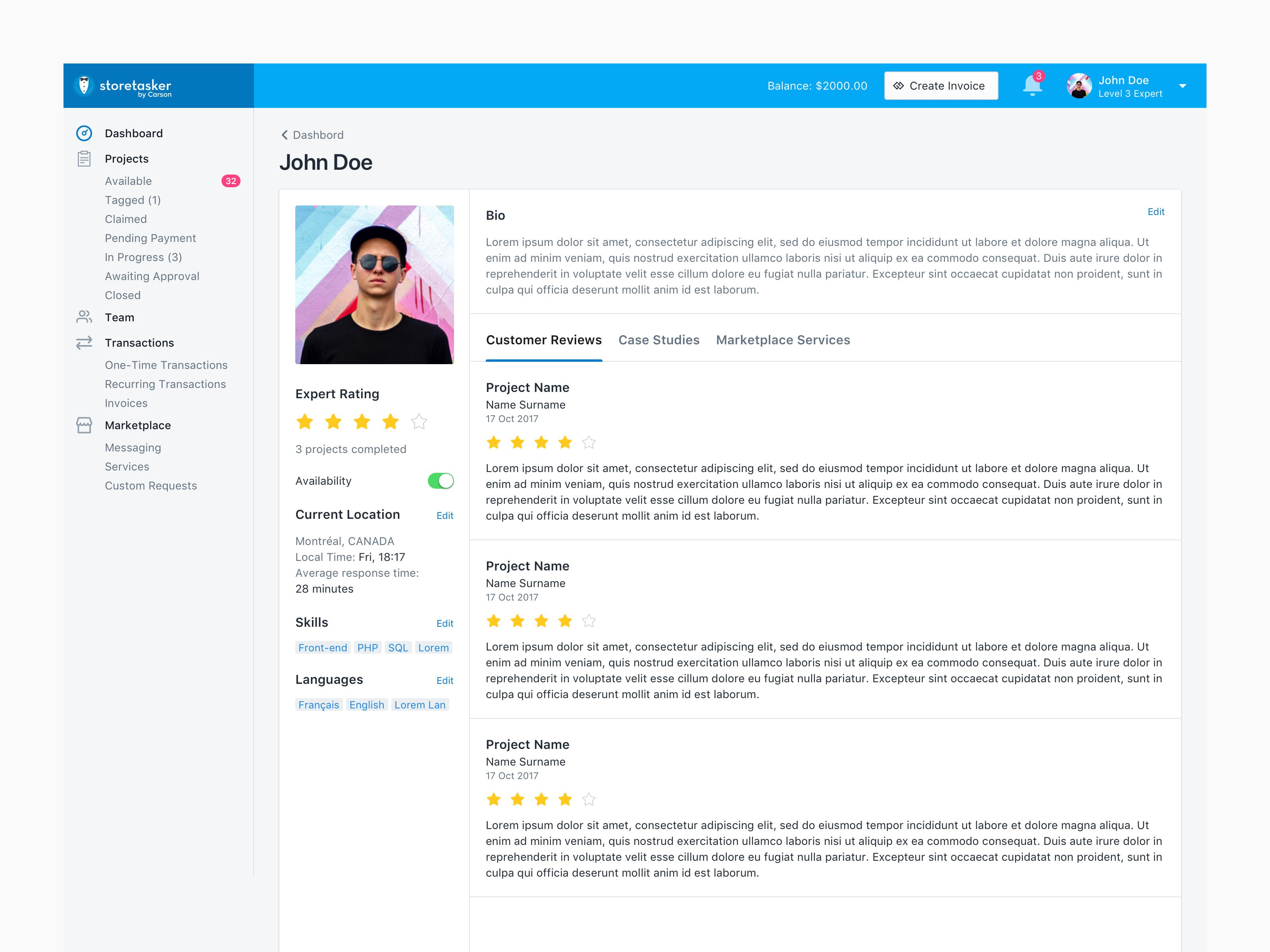 Profile customer reviews 2x