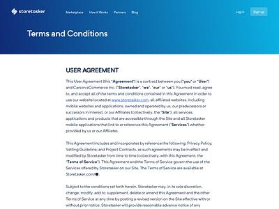 The two most important pages website web web design webapp web app uiux ui ux storetasker shopify responsive design ecommerce privacy policy policy privacy conditions terms and conditions terms