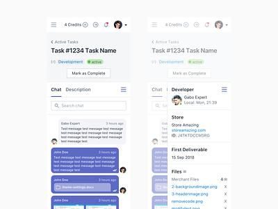 Mobile task chat web app webapps webapp web uiux shopify polaris illustration home ecommerce mobile dashboard ui dashboard design dashboard
